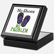 No Shoes No Problem Keepsake Box