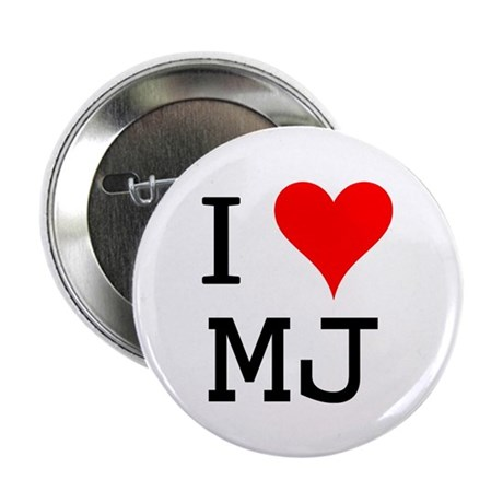 """I Love MJ 2.25"""" Button (10 pack)"""