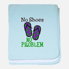 No Shoes No Problem baby blanket