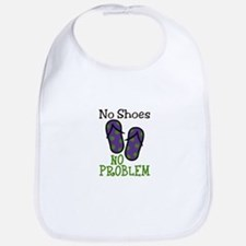 No Shoes No Problem Bib