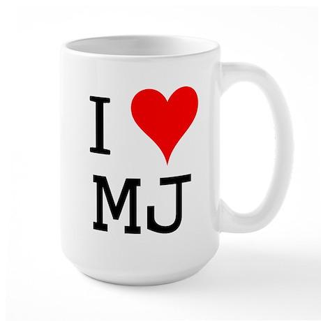 I Love MJ Large Mug