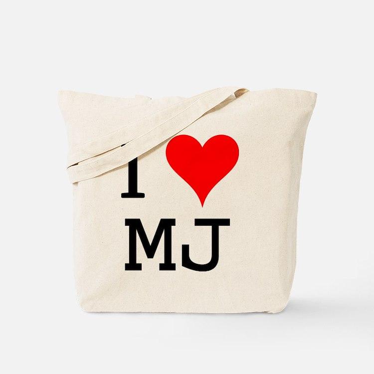 I Love MJ Tote Bag