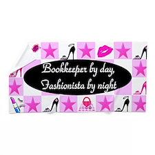 Snazzy Bookkeeper Beach Towel