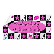 Stylish Bookkeeper Beach Towel