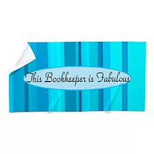 Blue Bookkeeper Beach Towel