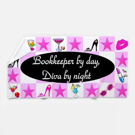 Chic Bookkeeper Beach Towel
