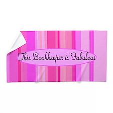 Pink Bookkeeper Beach Towel