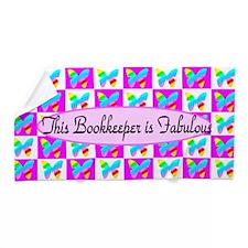 Pretty Bookkeeper Beach Towel