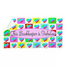 Bookkeeper Hearts Beach Towel