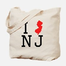 I Heart New Jersey Tote Bag