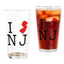 I Heart New Jersey Drinking Glass