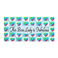 Boss Lady Hearts Beach Towel