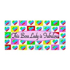 #1 Boss Lady Beach Towel