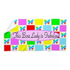 Best Boss Lady Beach Towel