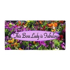 Floral Boss Lady Beach Towel