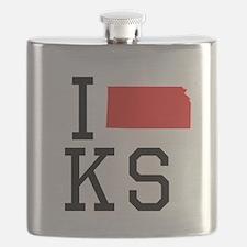 I Heart Kansas Flask
