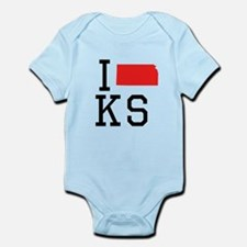I Heart Kansas Body Suit