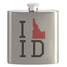 I Heart Idaho Flask