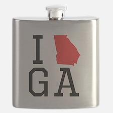 I Heart Georgia Flask
