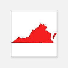 Red Virginia Silhouette Sticker