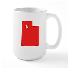 Red Utah Silhouette Mugs