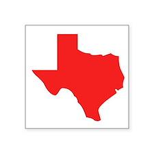 Red Texas Silhouette Sticker
