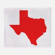 Red Texas Silhouette Throw Blanket