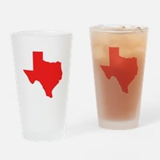 Red Texas Silhouette Drinking Glass