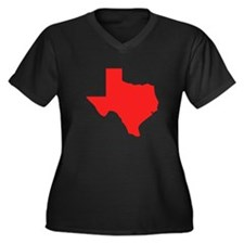Red Texas Silhouette Plus Size T-Shirt