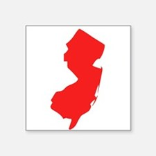 Red New Jersey Silhouette Sticker