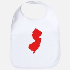 Red New Jersey Silhouette Bib