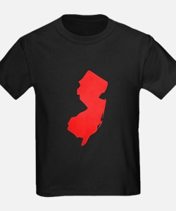 Red New Jersey Silhouette T-Shirt