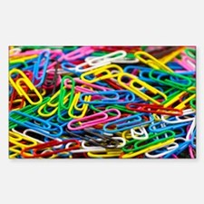 Colorful Paperclips Decal