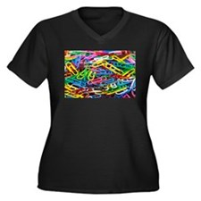 Colorful Paperclips Plus Size T-Shirt