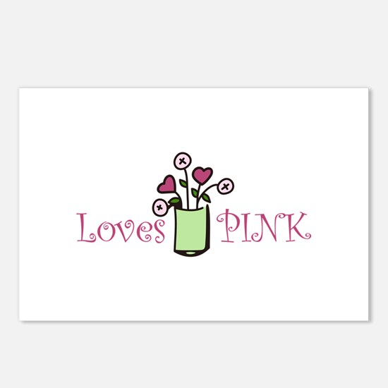 Loves PINK Postcards (Package of 8)