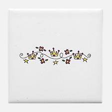 Princess Crowns Tile Coaster