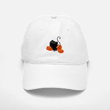 Black Cat and Pumpkin Heads Baseball Baseball Baseball Cap