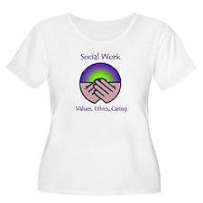 Social Work Values Plus Size T-Shirt
