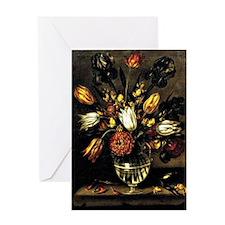 Antonio Ponce - Vase of Flowers Greeting Card