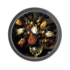 Antonio Ponce - Vase of Flowers Wall Clock