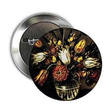 "Antonio Ponce - Vase of Flowers 2.25"" Button"