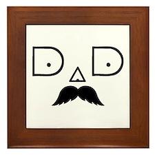 Dad-Mustache-1 Framed Tile
