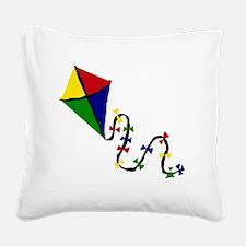 Kite Art Square Canvas Pillow