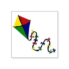 "Kite Art Square Sticker 3"" x 3"""