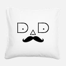 DAD-MUSTACHE-3 Square Canvas Pillow