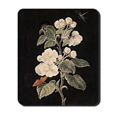 Apple Flowers painting Mousepad