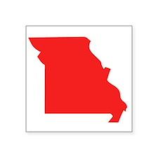 Red Missouri Silhouette Sticker