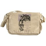 Alice in wonderland quotes Messenger Bag
