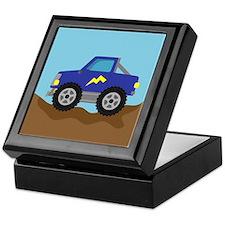 Cool Blue Race Monster Truck Keepsake Box
