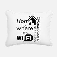 Home is where... Rectangular Canvas Pillow
